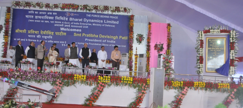 President of India lays foundation stone for BDL's new manufacturing unit