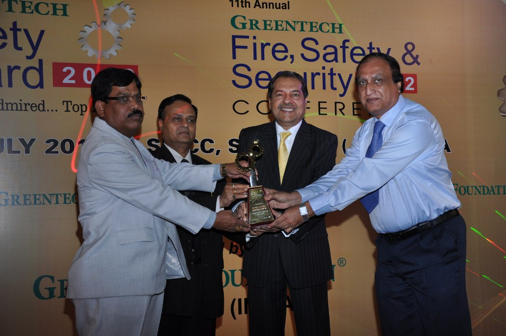GREENTECH Safety Gold Award-2012 for NTPC…