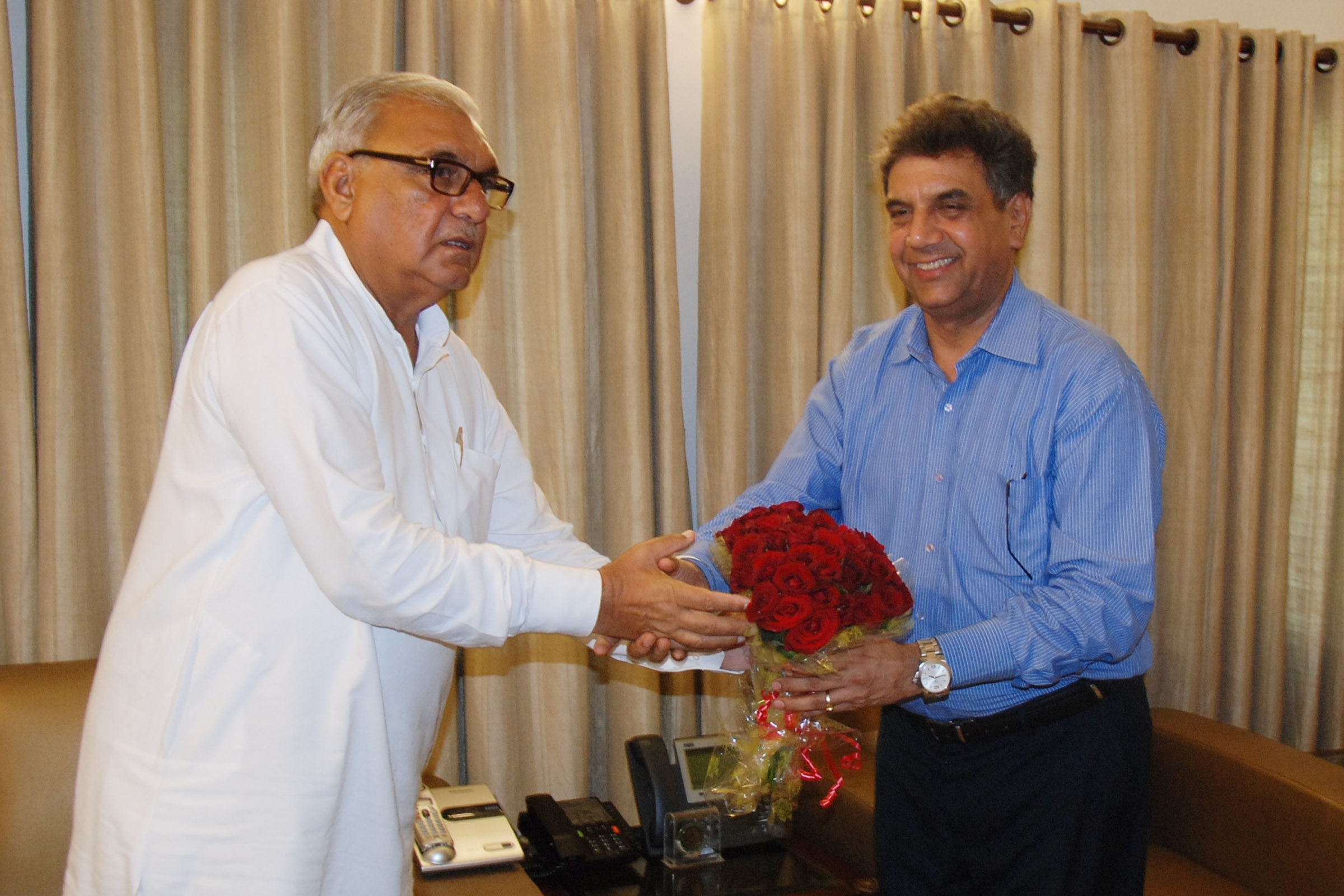 Chairman, Aravali Power and Director (Commercial), NTPC meets Chief Minister, Haryana..