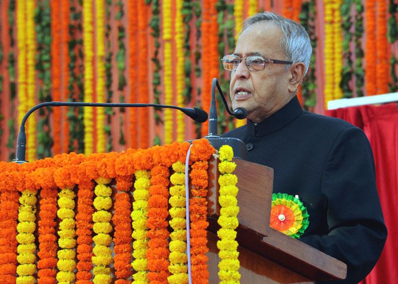 The President, Shri Pranab Mukherjee addressing at the…