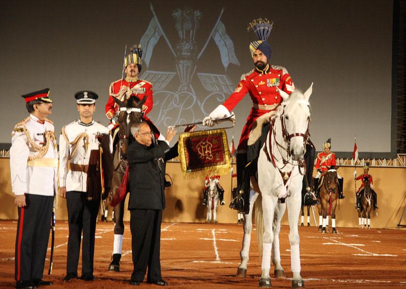 The President, Shri Pranab Mukherjee presenting the Silver Trumpet and Trumpet Banner…