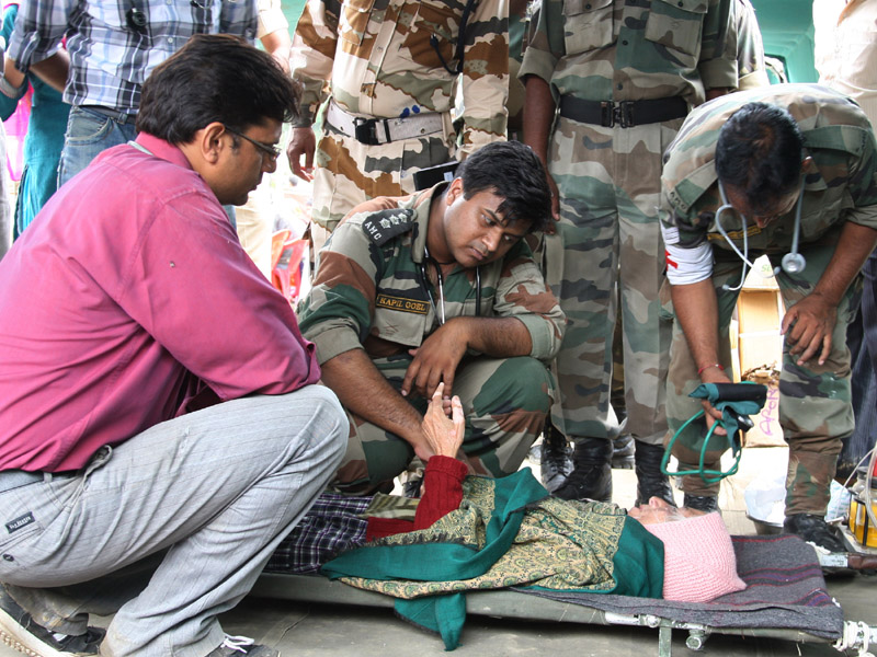 The Army doctors provide medical help to a seriously ill ...