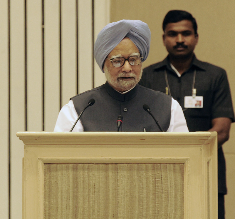The prime minister dr manmohan singh delivering the - Prime minister of india office address ...