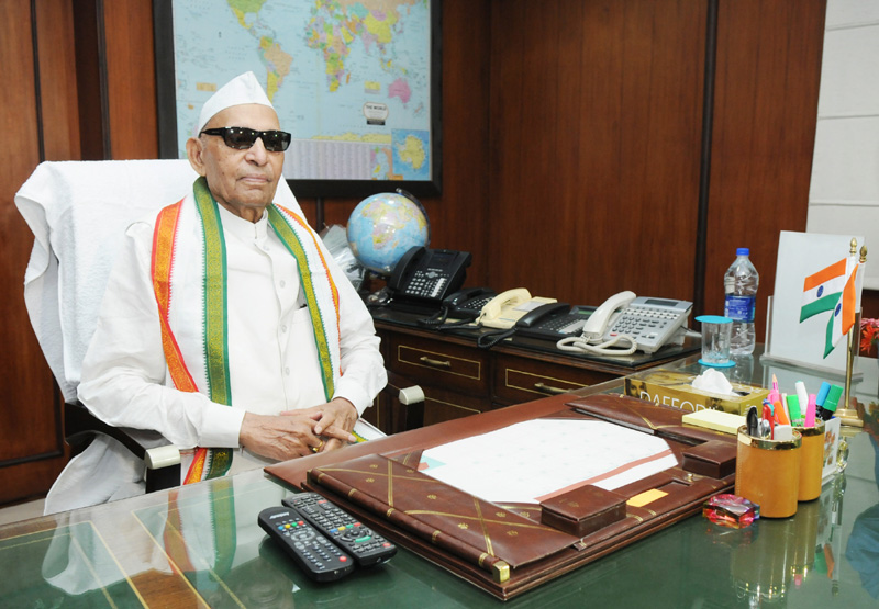 Shri Sis Ram Ola takes over the charge of Union Minister for Labour and Employment, in New Delhi
