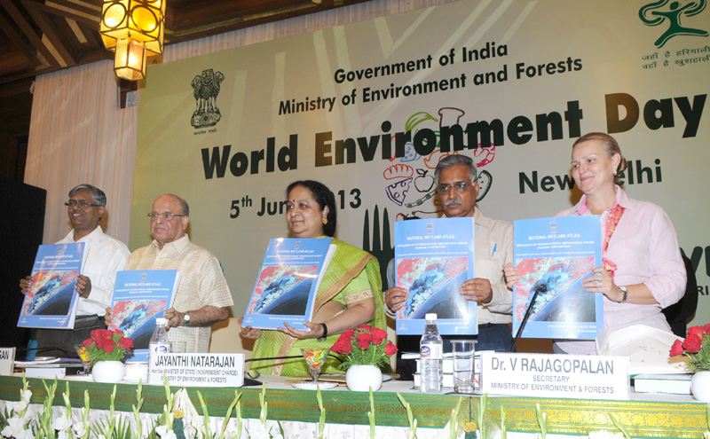 The Minister of State (Independent Charge) for Environment and Forests, Smt. Jayanthi Natar…