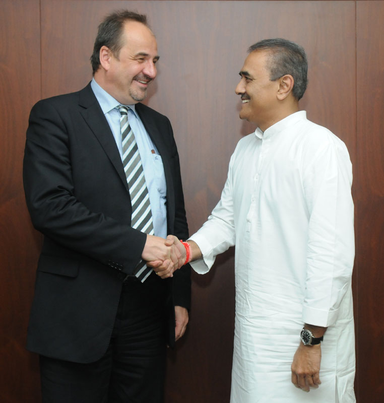 The Minister of Foreign Affairs, Czech Republic, Mr. Jan Kohout calling on the…