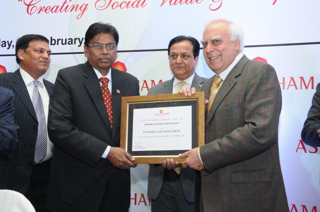 Punjab National Bank conferred with Appreciation Certificate in 6th Global CSR Summit – cum – Excellence Awards