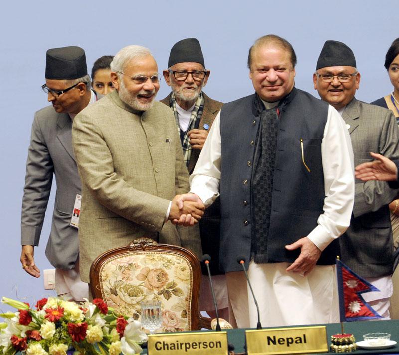 The Prime Minister, Shri Narendra Modi with the Prime Minister of Pakistan,…