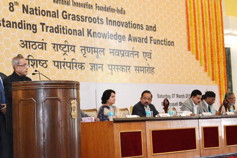 The President, Shri Pranab Mukherjee addressing at the 8th National Biennial Awards for..