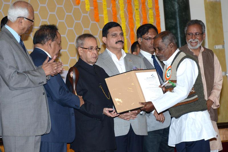 The President, Shri Pranab Mukherjee presented the 8th National Biennial Award for..