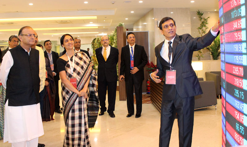 The Union Minister for Finance, Corporate Affairs and Information & Broadcasting, Shri Arun..