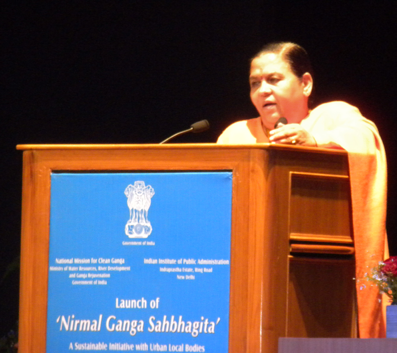 The Union Minister for Water Resources, River Development and Ganga Rejuvenation..