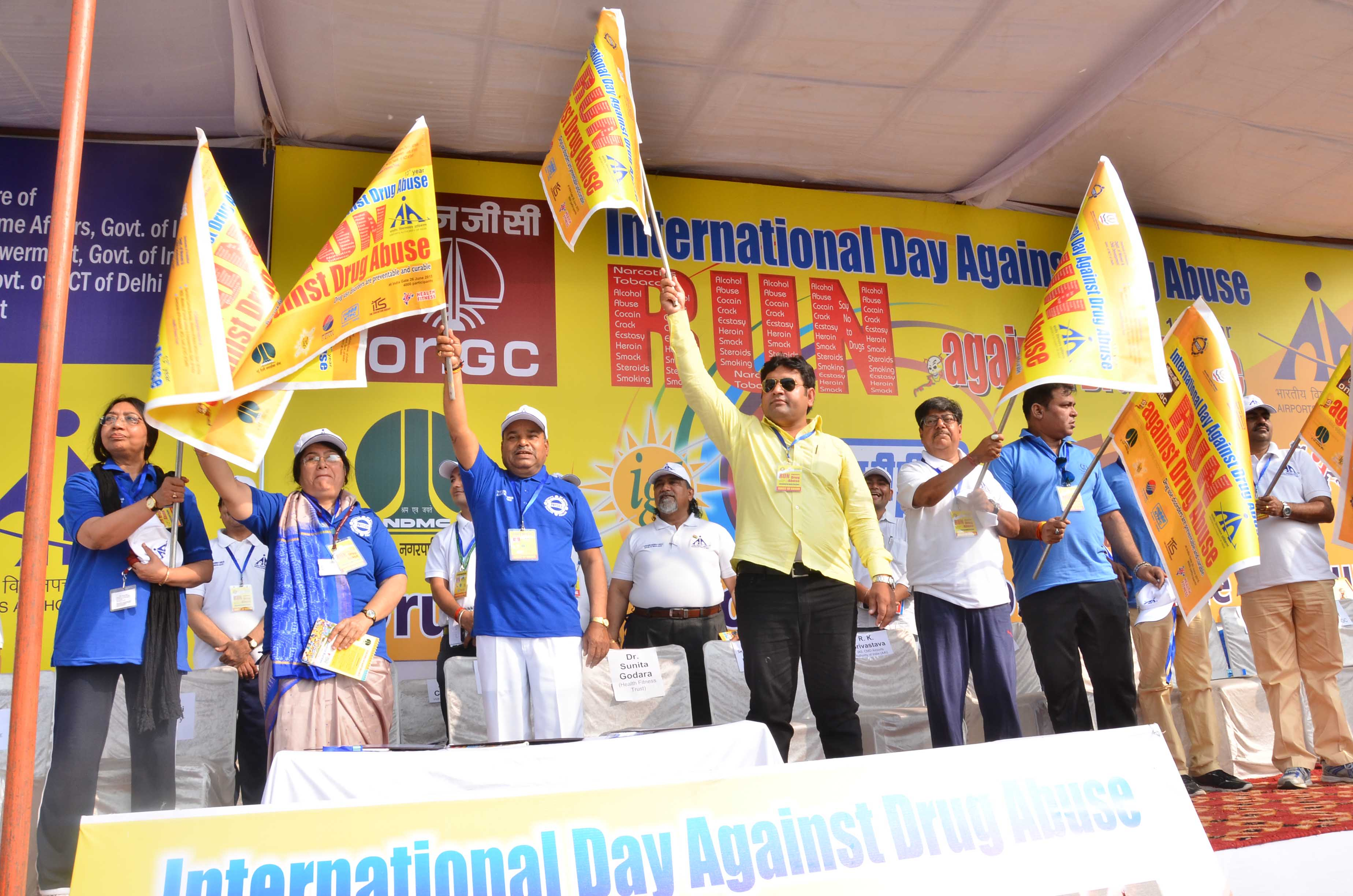 THAAWAR CHAND GEHLOT FLAGS OFF RUN ON THE INTERNATIONAL DAY AGAINST DRUG ABUSE