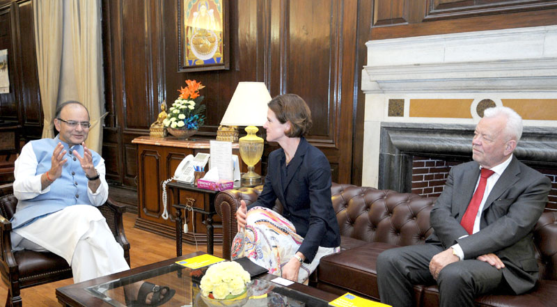 The leader of opposition of Sweden, Ms. Anna Kinberg Batra meeting the Union Minister for ..