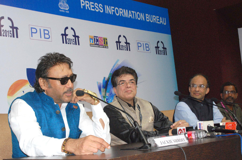 Bollywood Actor and Brand Ambassador of MIFF, Jackie Shroff addressing a press conference,..