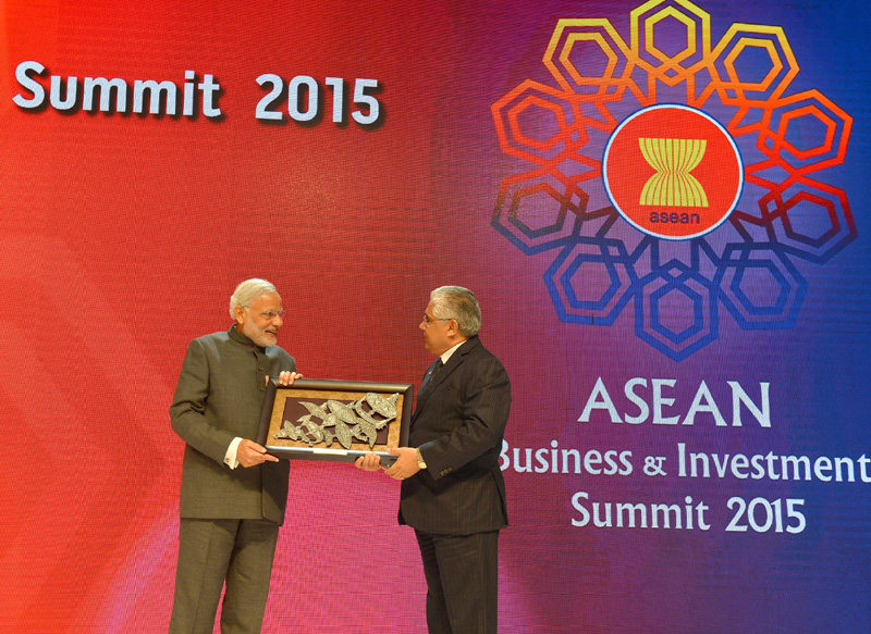 The Prime Minister, Shri Narendra Modi at the ASEAN Business and Investment Summit ..