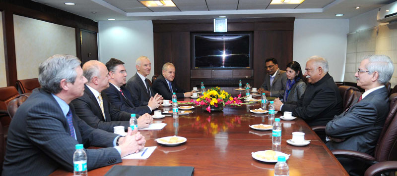 A delegation from France meeting the Union Minister for Civil Aviation, Shri Ashok Gajapathi Raju ..