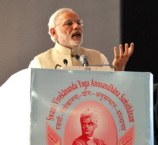 The Prime Minister, Shri Narendra Modi delivering the inaugural address at the ..