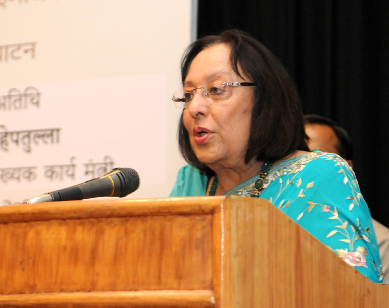 The Union Minister for Minority Affairs, Dr. Najma A. Heptulla addressing at the..