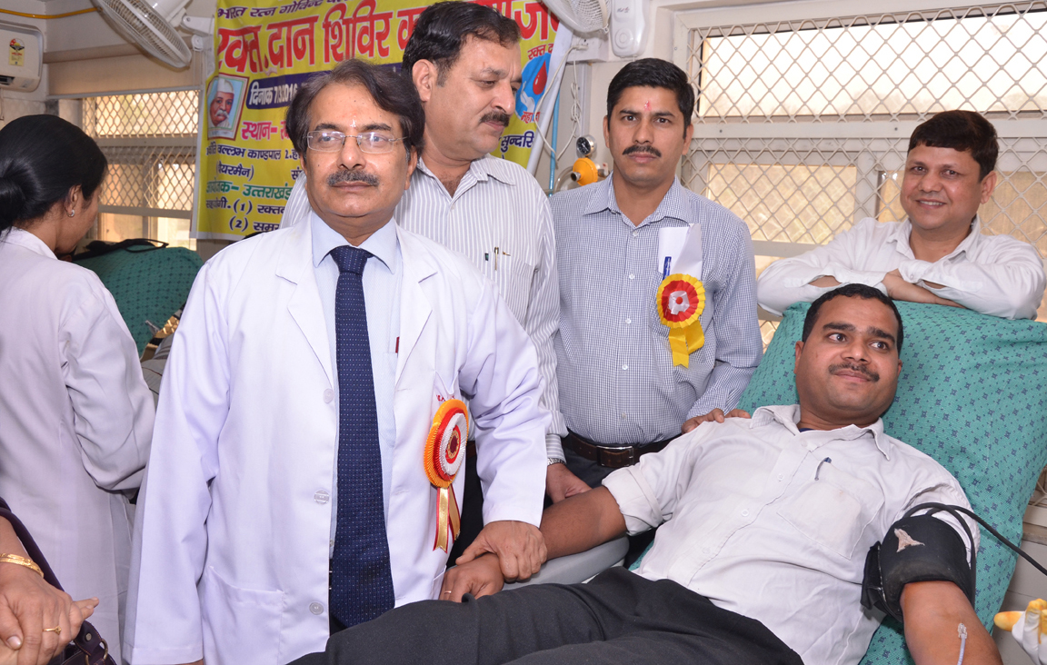 Blood donation camp sets record with 100+ units collected