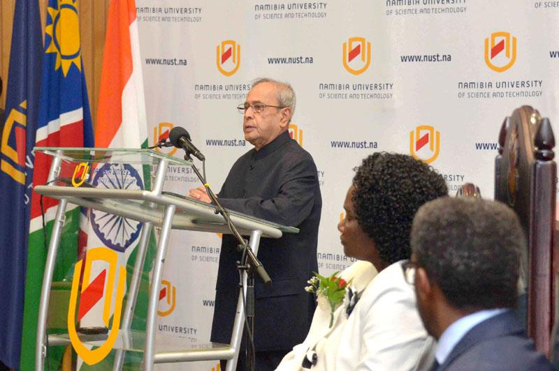 The President, Shri Pranab Mukherjee addressing the academic community of ..