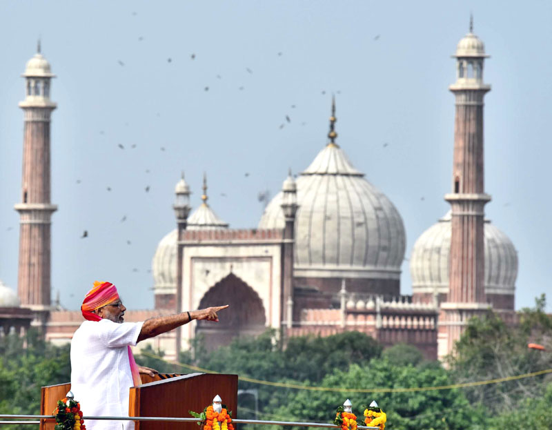 The Prime Minister, Shri Narendra Modi addressing the Nation on the occasion ..