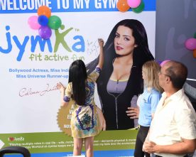 Bollywood Actress Celina Jaitley Launches Jymka, India's First Family Fitness Club In Gurgaon