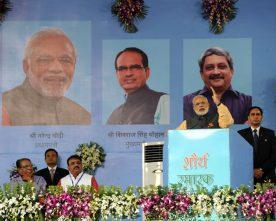 The Prime Minister, Shri Narendra Modi addressing at Ex Servicemen Public Meeting,..