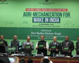 "Agriculture Minister launches coffee table book on ""Agri-Mechanization for Make in India"""
