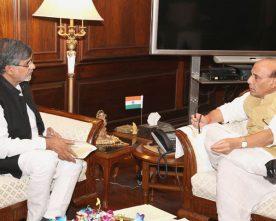 The Nobel Peace Prize awardee, Shri Kailash Satyarthi calling on the ..