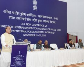 The Union Home Minister, Shri Rajnath Singh addressing at the inauguration of..