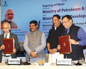 The Secretary, Ministry of Petroleum and Natural Gas, Shri K.D. Tripathi and ..