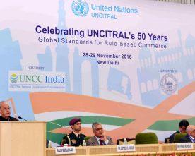 The President, Shri Pranab Mukherjee addressing at the celebration on 50 years..
