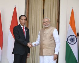 The Prime Minister, Shri Narendra Modi with the President of Indonesia, ..