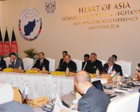 The Union Minister for Finance and Corporate Affairs, Shri Arun Jaitley at the Heart of Asia Ministerial Conference, in Amritsar, Punjab