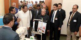 The President, Shri Pranab Mukherjee visiting the Apparel Training & Design Centre..