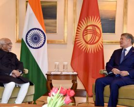 The Vice President, Shri M. Hamid Ansari calling on the President of the..