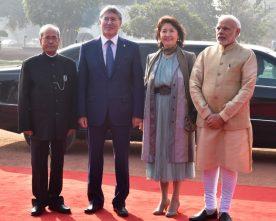 The President, Shri Pranab Mukherjee and the Prime Minister, Shri Narendra Modi..