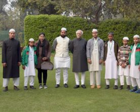 The Vice President, Shri M. Hamid Ansari with the Students from ..