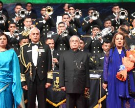 The President, Shri Pranab Mukherjee at the Naval Symphonic Orchestra 2017, in New Delhi