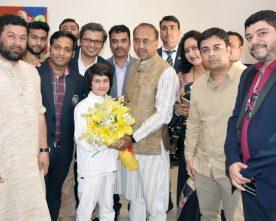 8-year-old World Kickboxing champion Tajamul Islam from J&K, meeting the ..