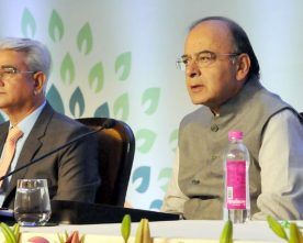 The Union Minister for Finance, Corporate Affairs and Defence, Shri Arun Jaitley ..