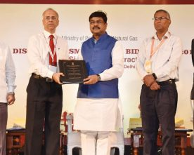 The Minister of State for Petroleum and Natural Gas (Independent Charge), Shri Dharmendra..