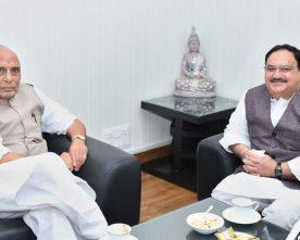 The Union Minister for Health & Family Welfare, Shri J.P. Nadda calling on the ..