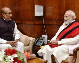 The Chief Minister of Manipur, Shri N. Biren Singh calls on the Prime Minister, ..
