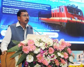 The Minister of State for Railways, Shri Rajen Gohain addressing at the inauguration of a ..