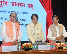 The Union Minister for Railways, Shri Suresh Prabhakar Prabhu..