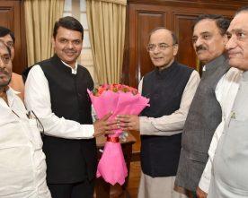 The Chief Minister of Maharashtra, Shri Devendra Fadnavis meeting the..
