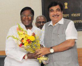 The Chief Minister of Puducherry, Shri V. Narayanasamy meeting the..
