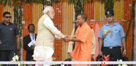 The Prime Minister, Shri Narendra Modi at the swearing-in ceremony of..